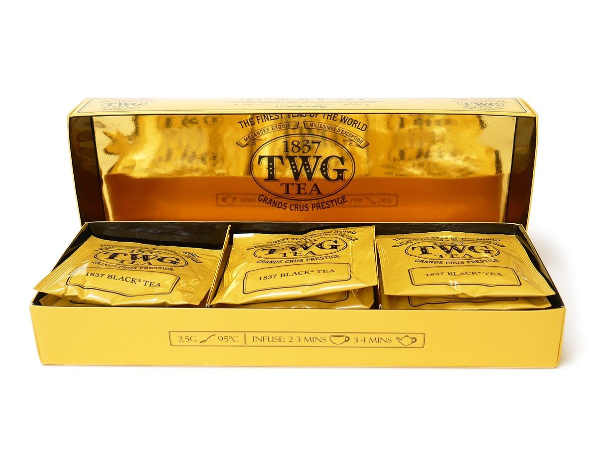 TWG 1837ブラックティー 15パック入 箱を開封