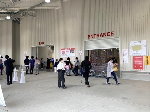 コストコ守山倉庫店 エントランス