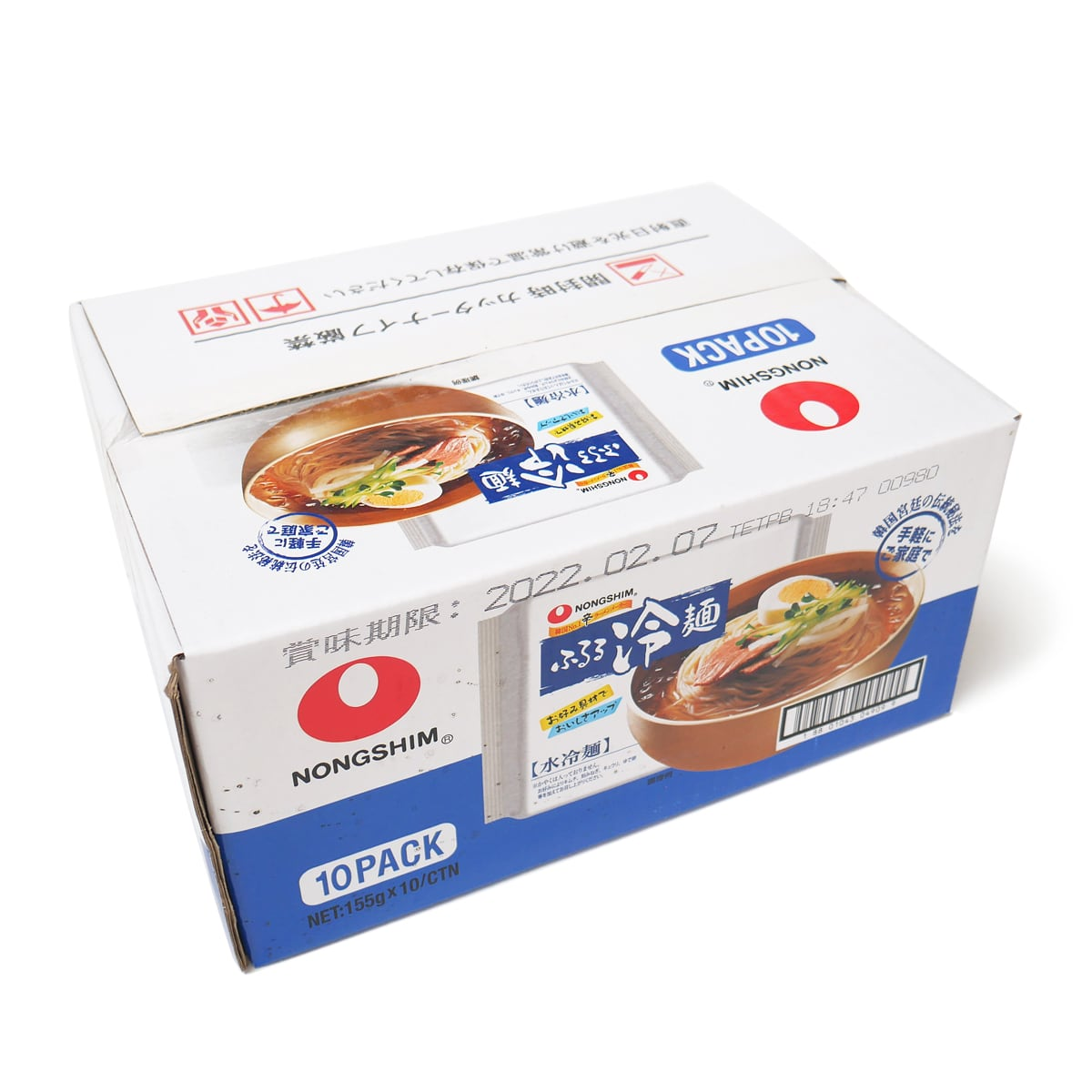 農心 ふるる冷麺 10食入 外箱