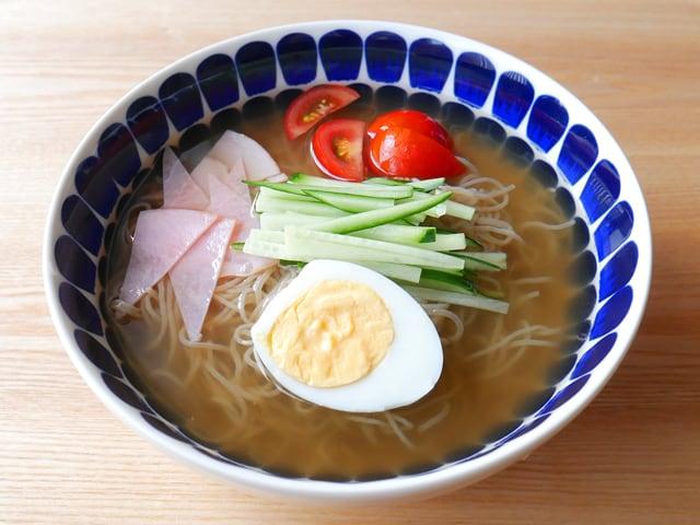 農心 ふるる冷麺 調理例:韓国冷麺