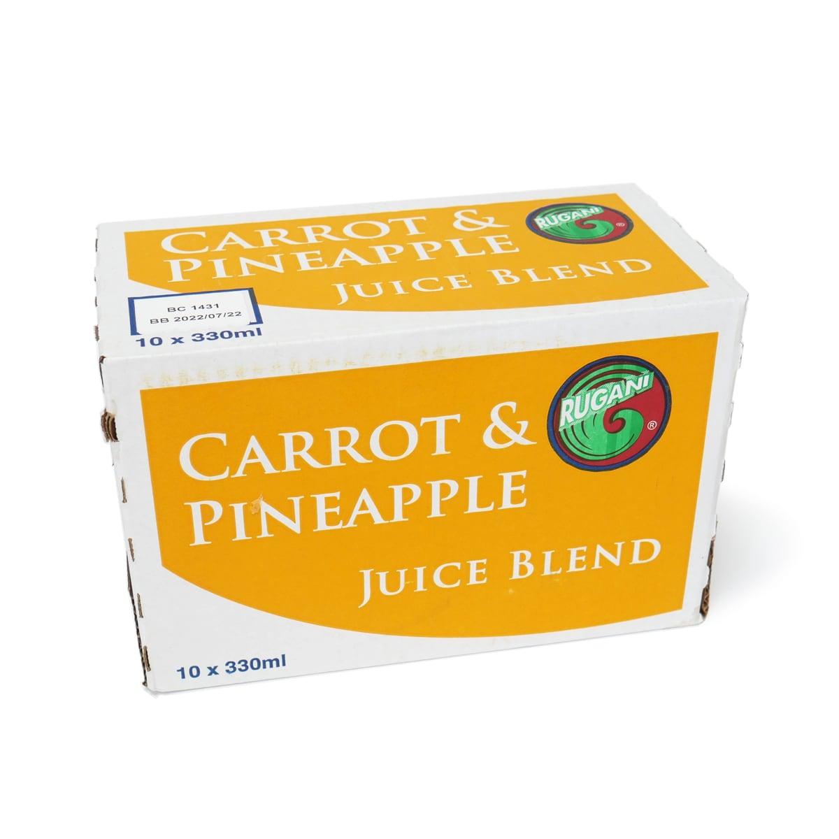 RUGANI(ルガーニ) キャロット&パイナップルジュースブレンド 330ml×10本 外箱