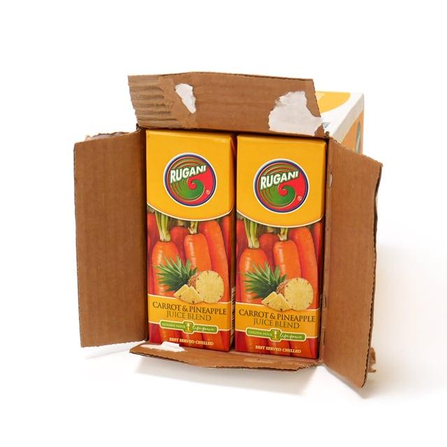 RUGANI(ルガーニ) キャロット&パイナップルジュースブレンド 330ml×10本 外箱開封