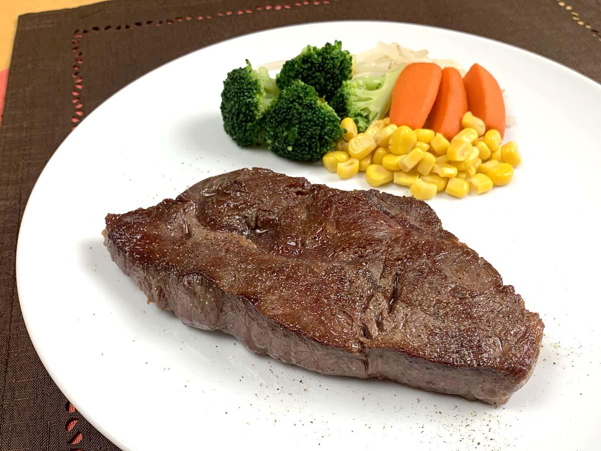 調理例:プライムビーフミスジ ステーキ用カット