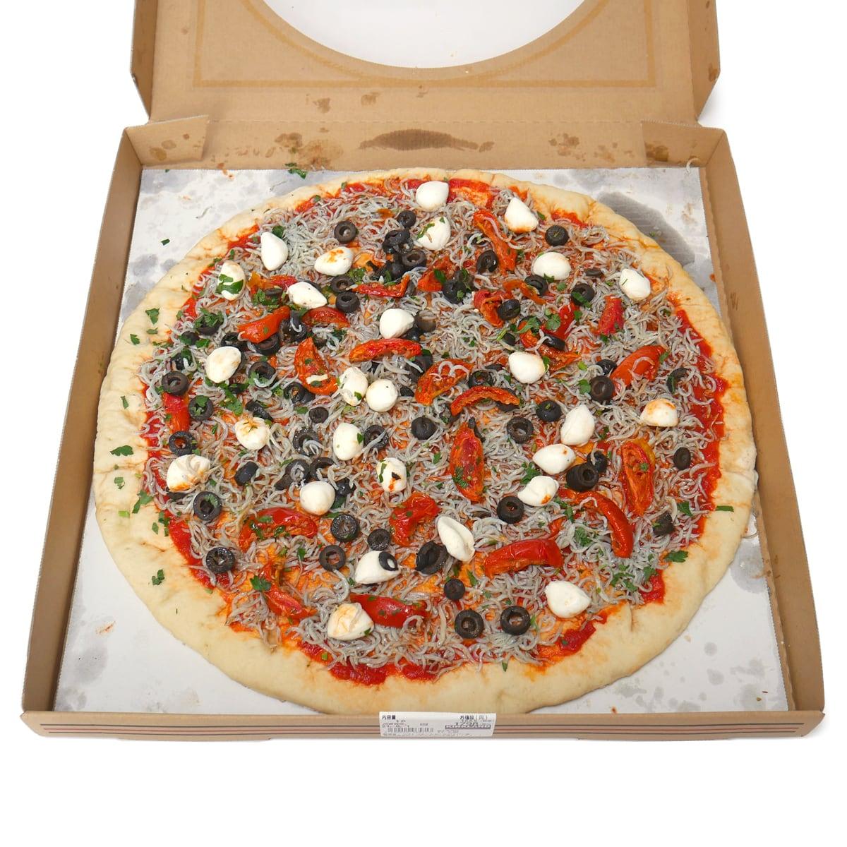 遠州灘しらすピザ 開封