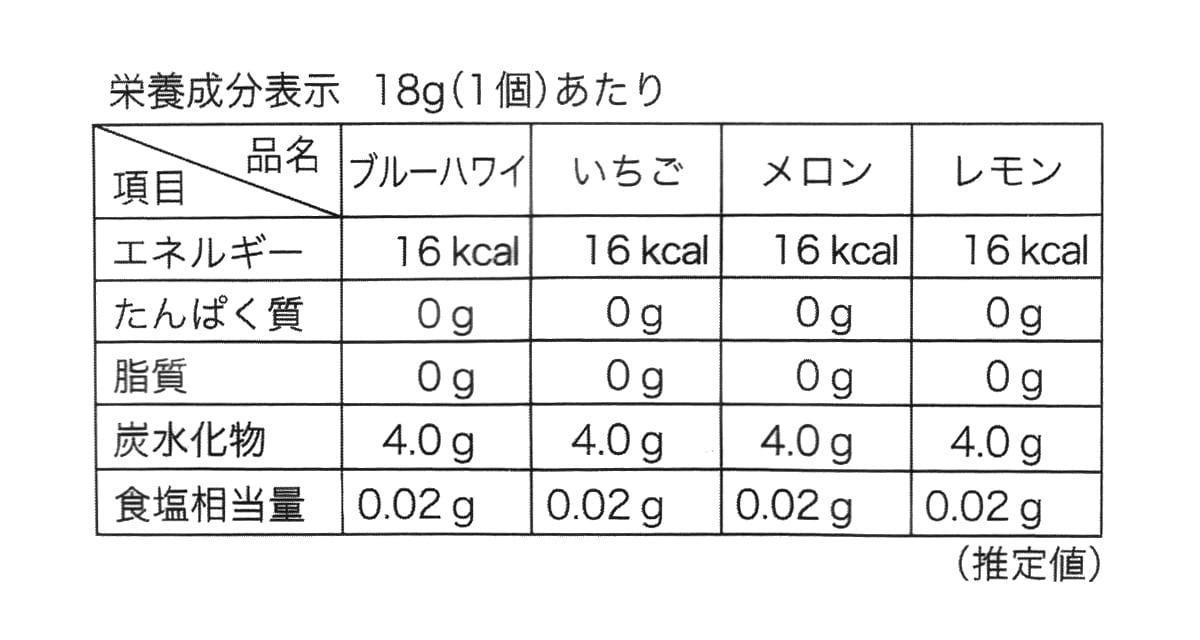 雪国アグリ フローズンゼリーミックス 1080g カロリー表記