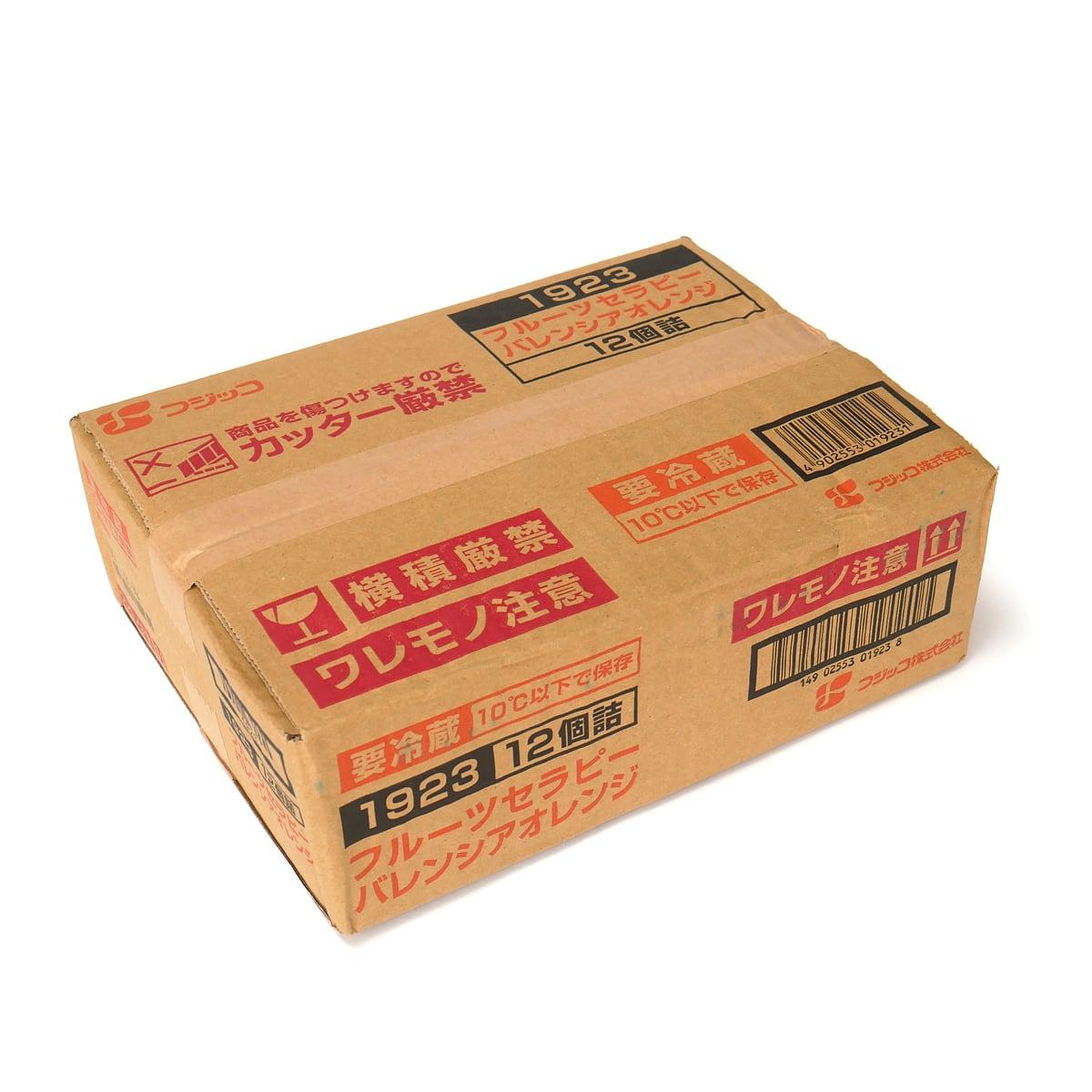 フジッコ フルーツセラピー バレンシアオレンジ 12個入 外箱(ダンボールの箱)