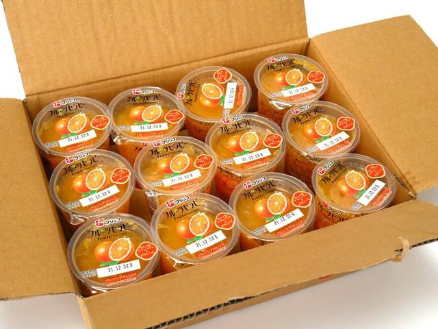 フジッコ フルーツセラピー バレンシアオレンジ 12個入 外箱開封