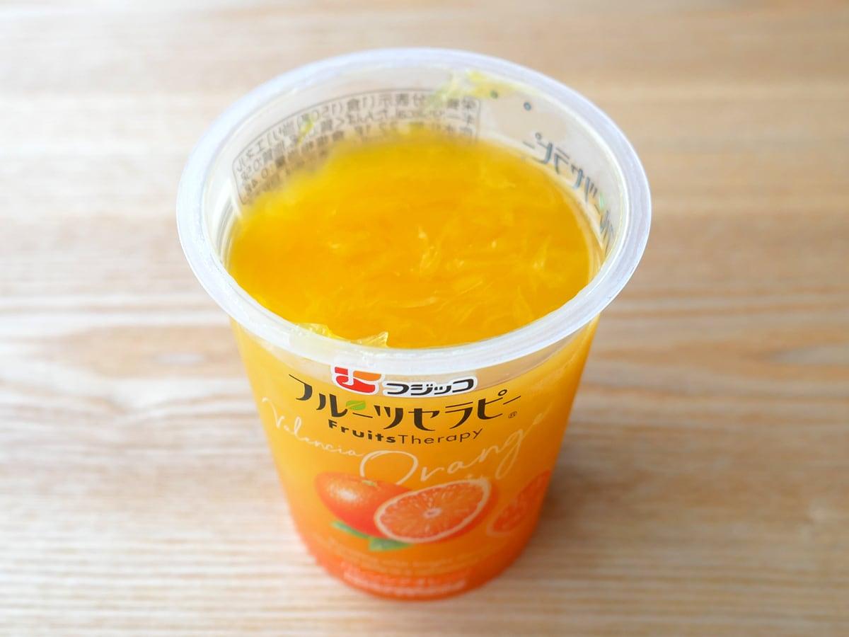 フジッコ フルーツセラピー バレンシアオレンジ 1個(開封)