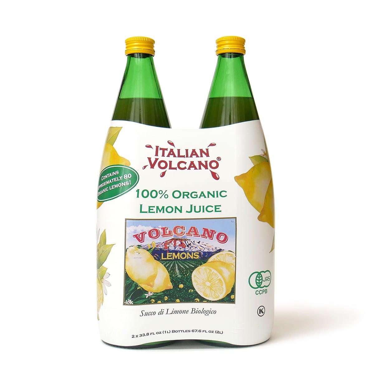 イタリアンボルケーノ 100%オーガニックレモンジュース 1L×2