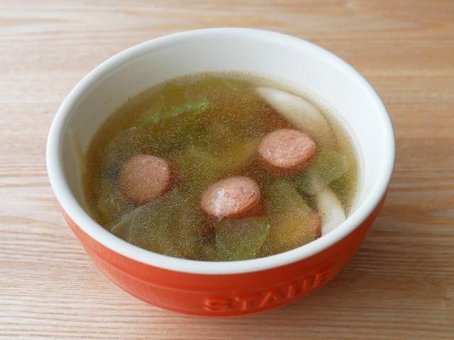 カークランドシグネチャー ポークホットドッグ(フランクフルトソーセージ) 使用例:スープ(ポトフ)