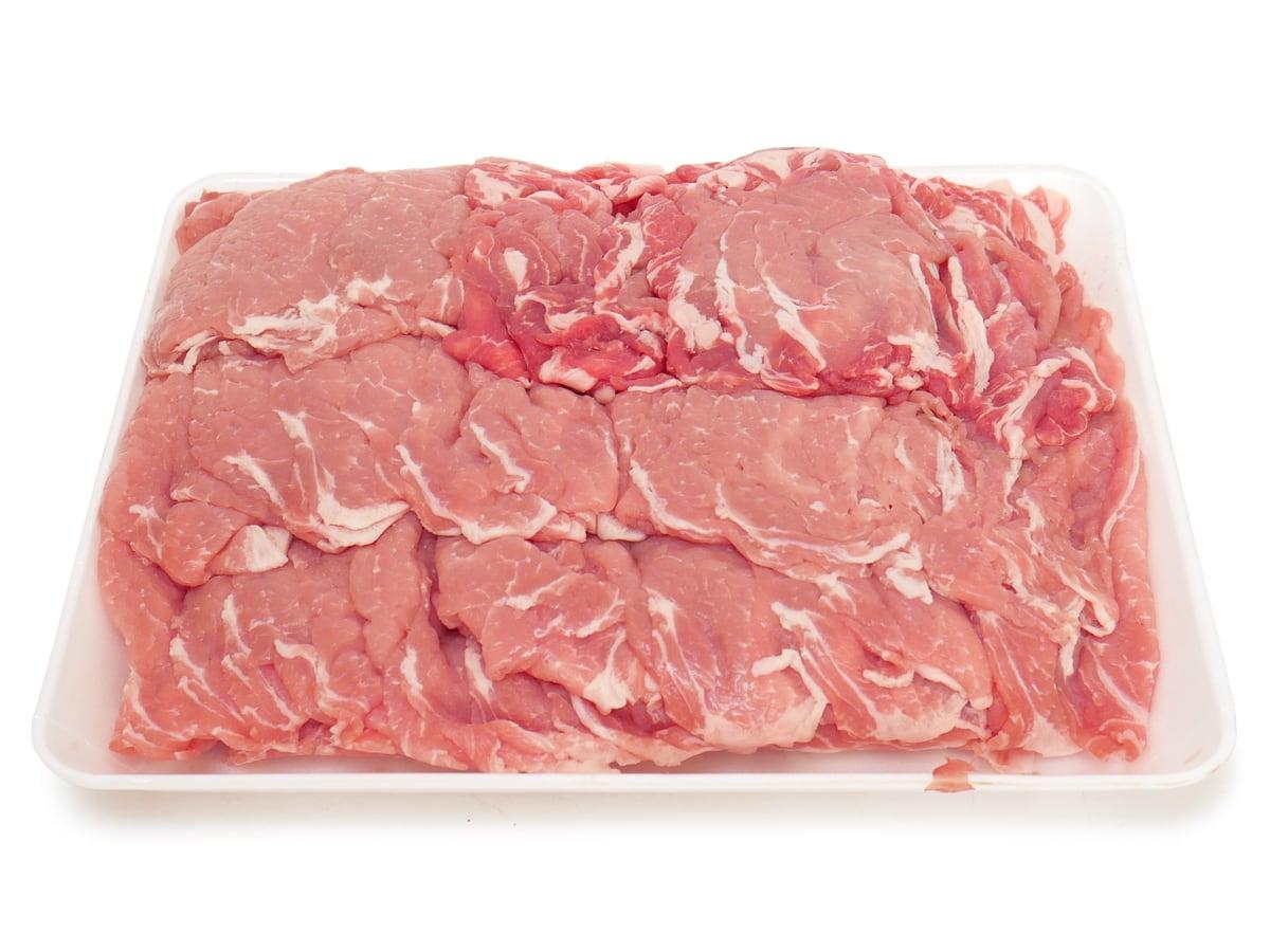 カナダ産豚肉 三元豚ロースしゃぶしゃぶ 開封