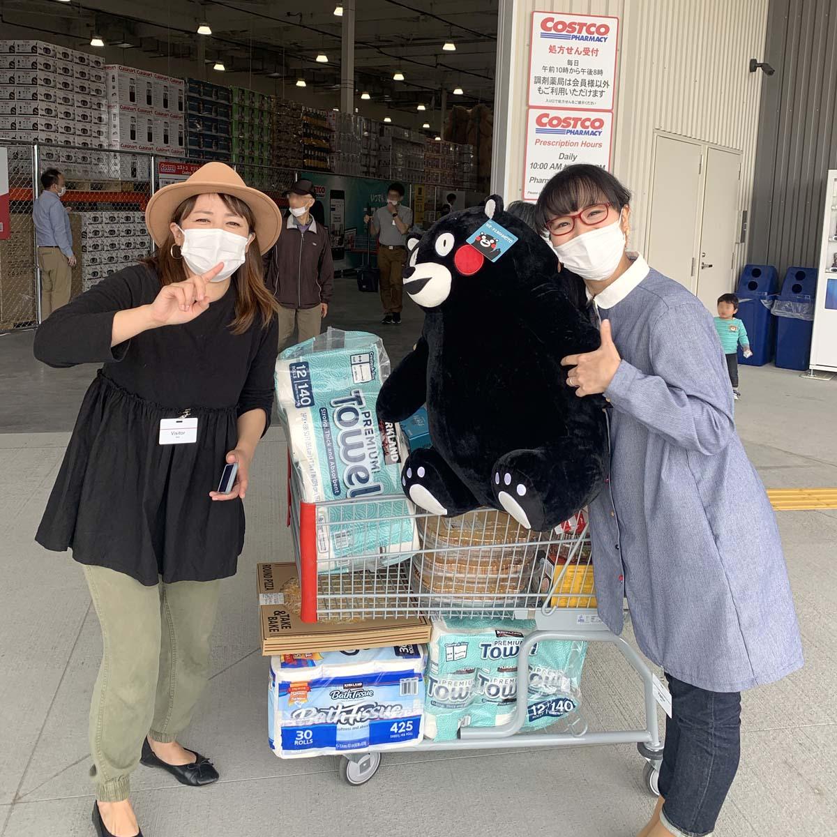 「おがっち」こと緒方由美さんとコス子 コストコ熊本御船倉庫店にて