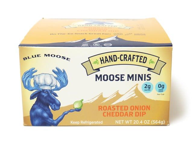 BLUE MOOSE ローストオニオンチェダーディップソース 12個入り 箱側面