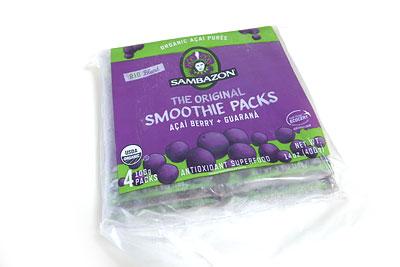アサイースムージーパック ジップロック式の袋