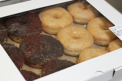 チョコ スプリンクル ドーナツ