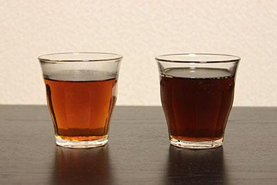 黒茶烏龍茶と黒烏龍茶